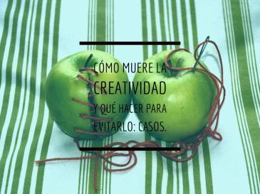cómo muere la creatividad y qué hacer para evitarlo, con dos manzanas verdes de fondo