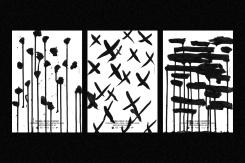 cruces y dibujos blanco y negro