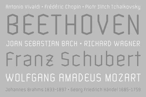 nombres en diferentes tipografías