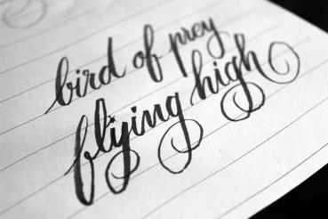 frase escrita en hoja