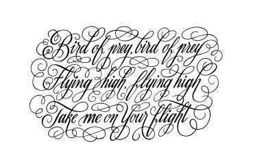 frase en tipografí especial