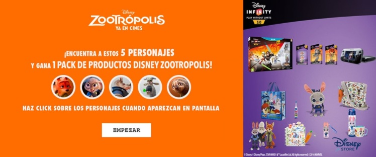 zootropolis video interactivo