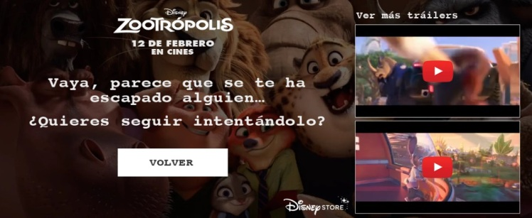 zootropolis, video interactivo